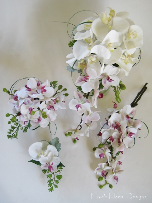 silk wedding flower packages artificial wedding flower packages 7426